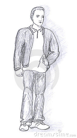Fashionable men sketch