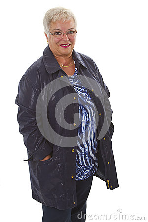 Fashionable senior woman