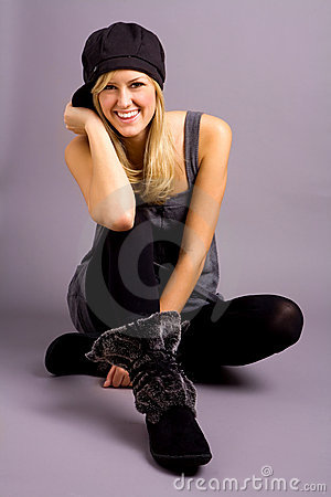 Free Fashionable Teenage Girl Stock Photography - 3305742