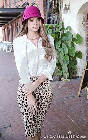 Fashionable Teenage Model Outdoors