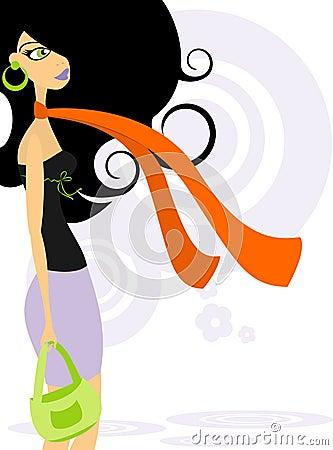 Fashionable woman 2