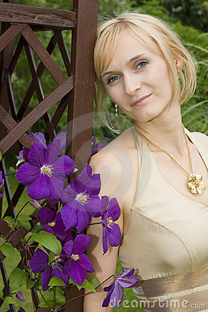 Fashionable Woman And Flowers Stock Image - Image: 5530061