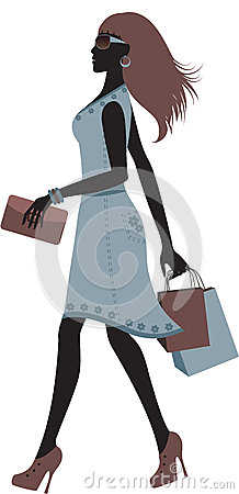fashionable woman shopping.