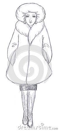 Fashionable women sketch
