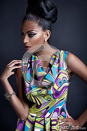 Fashionable young black woman