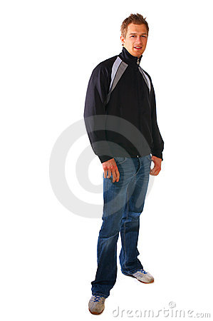Fashionable young man looking at camera