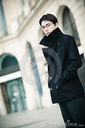 Fashionable young man outdoors