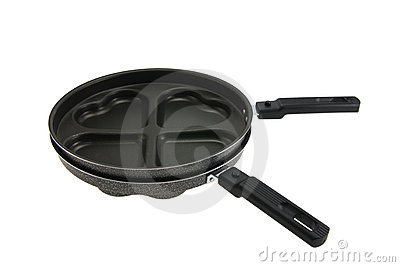Fashioned frying pans