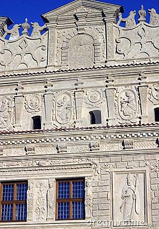 Fassade des dekorativen Steins
