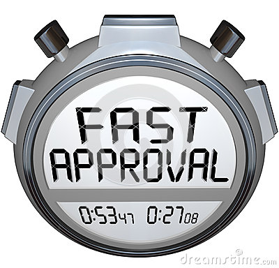 Free Fast Approval Words Stopwatch Timer Approved Loan Mortgage Credi Royalty Free Stock Photo - 32577605