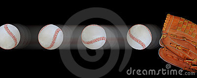Fast baseballs and glove