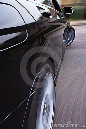 Fast car cornering