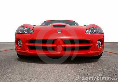 Fast car front view