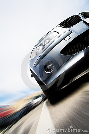 Free Fast Car Moving With Motion Blur Stock Photos - 5976933