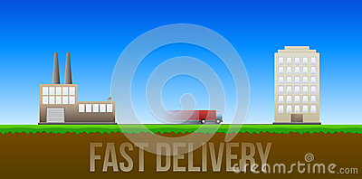 Fast delivery illustration