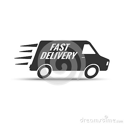 Fast Delivery. Vector Logo. Stock Vector - Image: 68878323