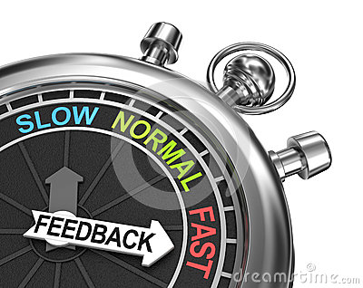 Fast Feedback, time concept Stock Photo