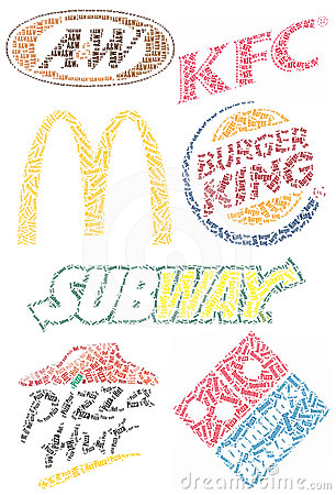 Fast Food Brands Editorial Photo