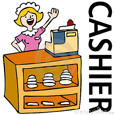Fast Food Cashier Worker Royalty Free Stock Photo Image