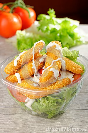 Fast food  chicken salad