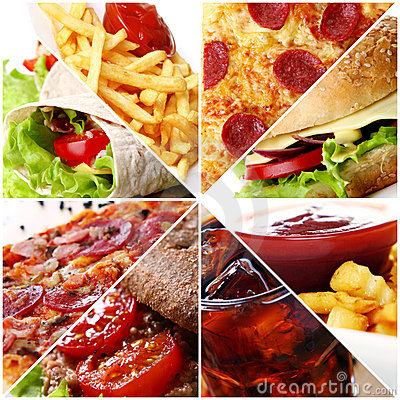 Free Fast Food Collage Stock Image - 20086351