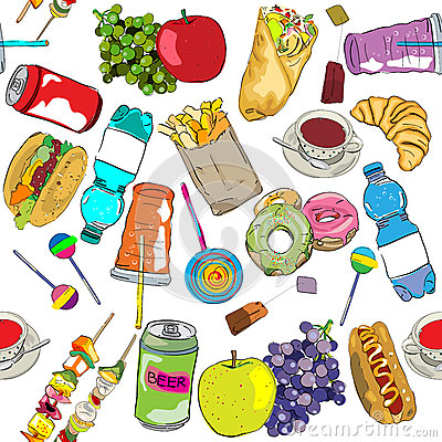 Fast food colored pattern