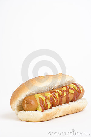 Fast food, delicious hot dog