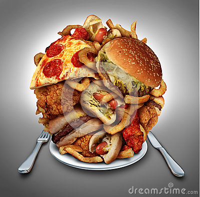 Free Fast Food Diet Stock Photography - 40995002