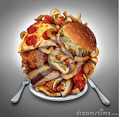 Fast Food Diet Stock Illustration Image 40995002
