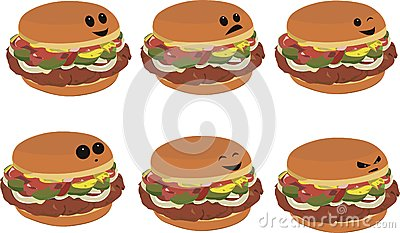 Fast Food Faces - Hamburger