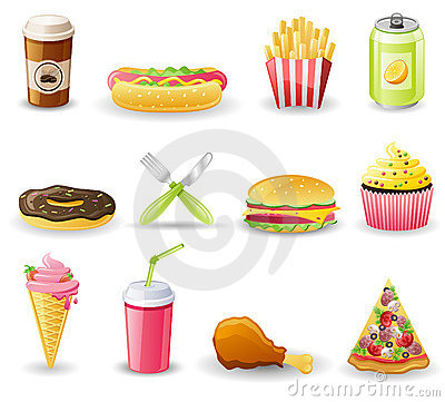Free Fast Food Icon Set. Stock Photo - 19216970