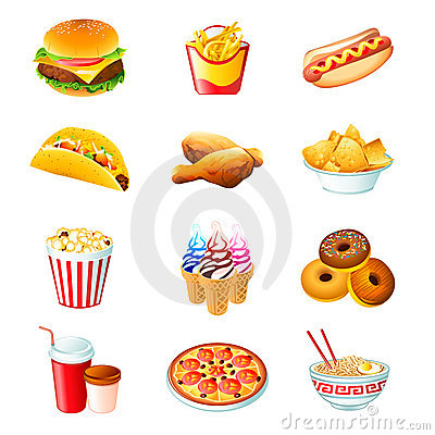 Free Fast Food Icons Royalty Free Stock Photography - 16426467