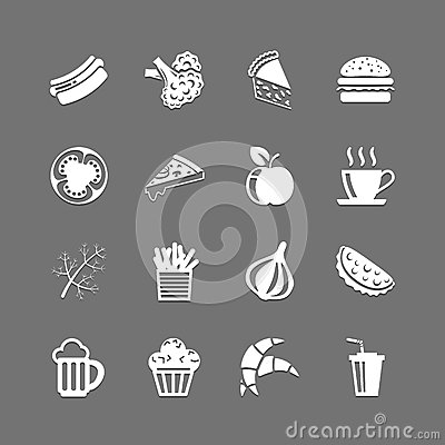 Free Fast Food Icons Royalty Free Stock Images - 31241579