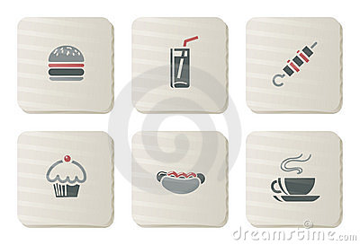 Fast food icons | Cardboard series