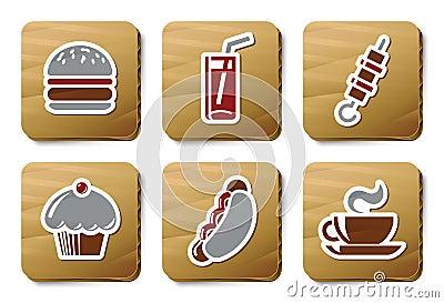 Fast food icons   Cardboard series