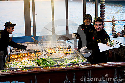 Fast food in Istanbul Editorial Stock Image