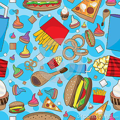 Fast Food Many Can Eat Seamless Pattern_eps