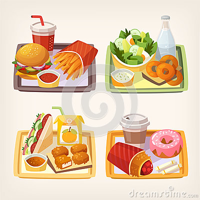 Free Fast Food On Tray Stock Photography - 91582992