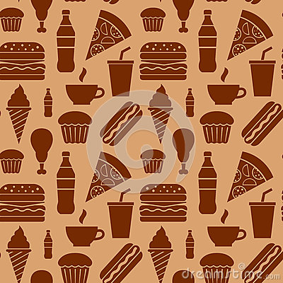 Fast food pattern Vector Illustration