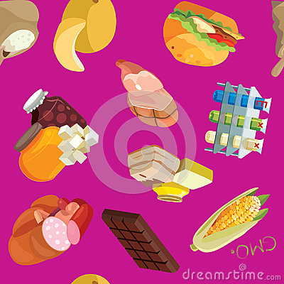 Free Fast Food, Sausages, Heavy Foods, Fast Carbohydrates, Smoked Foo Stock Photography - 98678692