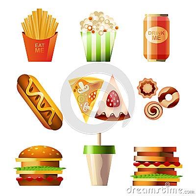 Free Fast Food Set Stock Photos - 25365693