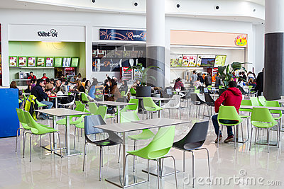Fast food shops Editorial Stock Photo