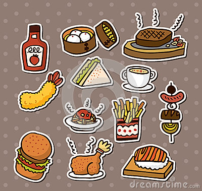 Free Fast Food Stickers Stock Photos - 27448323