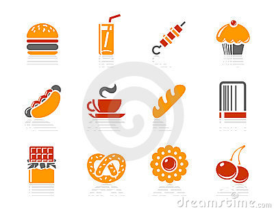 Fast food, Sweeties and Bakery icons | Sunshine Ho