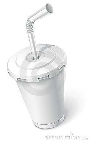 Fast food white cup
