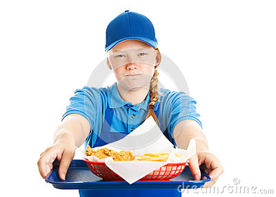 Fast Food Worker - Rude Attitude