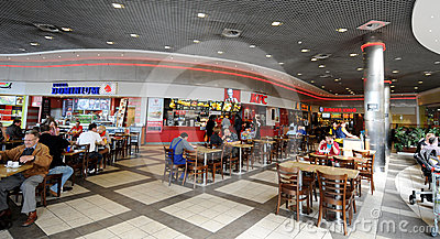 Fast Foods in Krakow Editorial Stock Image