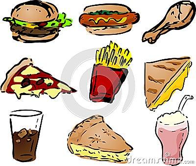 Fast foody ikony