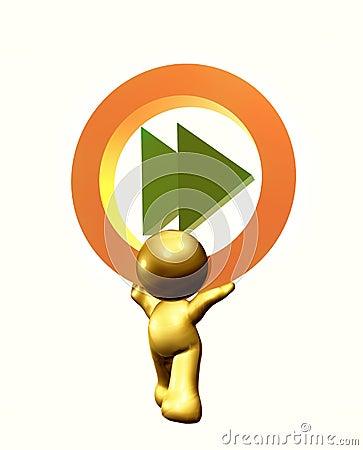 Fast forward icon symbol