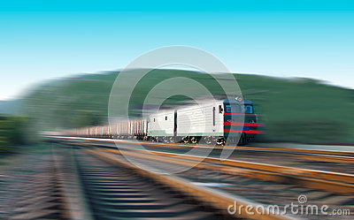 Fast freight train